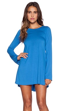 Michael Lauren Harvest Long Sleeve Dress in Marine Blue