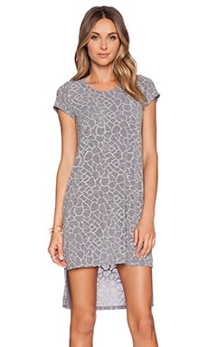 Michael Lauren Lucky Side Slit Dress in Heather Grey