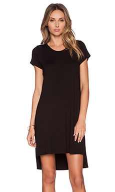 Michael Lauren Lucky Side Slit Dress in Black