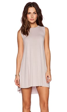 Michael Lauren Gilly Sleeveless Dress in Taupe Grey
