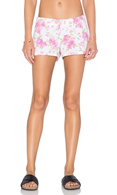 Michael Lauren Eddy Sweatshort in Pink Floral