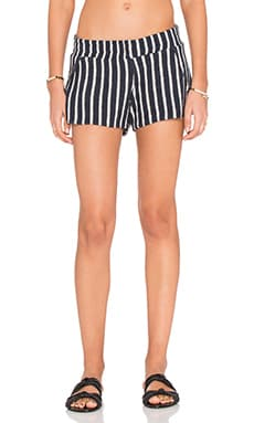 Michael Lauren Jango Stripe Short in Navy Stripe