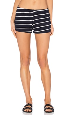 Michael Lauren Eddy Sweatshort in Navy Stripe