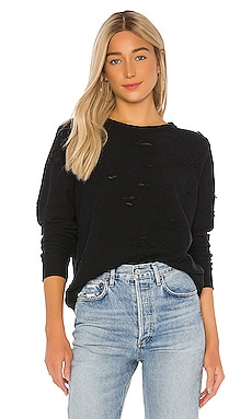 Calvin Distressed Sweatshirt Michael Lauren $110 NEW ARRIVAL