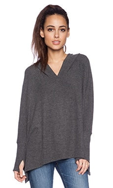 Michael Lauren Dash Hooded Sweater in Black