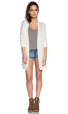 Michael Lauren Albert Oversized Cardigan in Natural