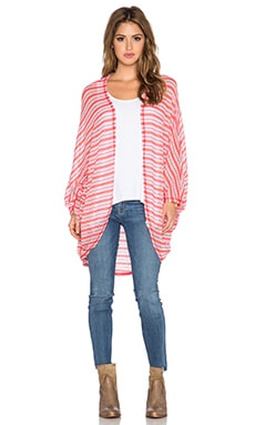 Michael Lauren Easton Stripe Cardigan in Pink Stripe