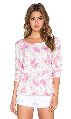Michael Lauren Kenny Pullover in Pink Floral