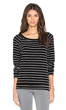Kenny Long Sleeve Pullover in Black Stripe