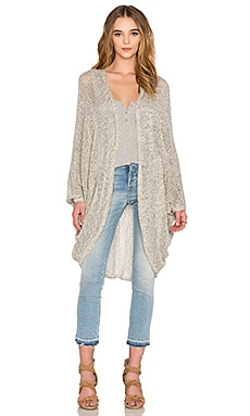 Michael Lauren Easton Cardigan in Cream