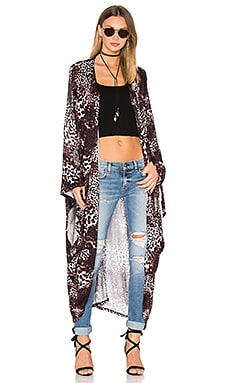 Pat Oversized Cardigan in Dark Leopard