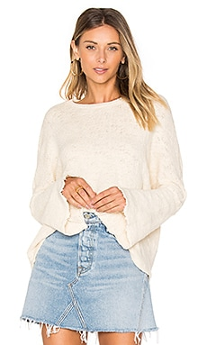 Palmer Bell Sleeve Sweater in Creme