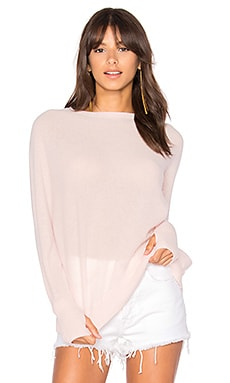 Gabriel Cashmere Sweater in Pink Champagne