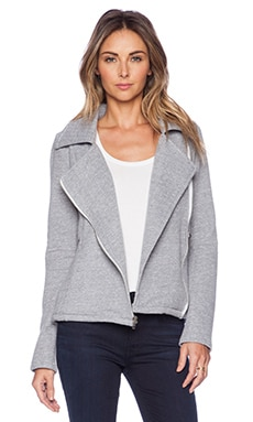 Michael Lauren Bryson Moto Jacket in Heather Grey