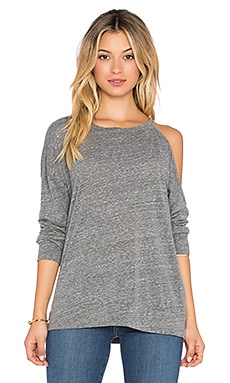 Michael Lauren x REVOLVE Buck One Shoulder Sweatshirt in Heather Grey