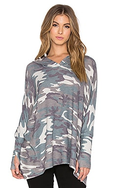 Michael Lauren Dash Oversized Hoodie in Camo