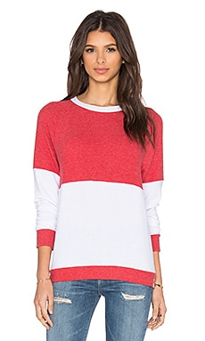 Michael Lauren Bob Vintage Racing Pullover in Cayenne & White