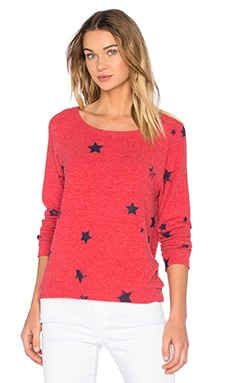 Michael Lauren Kenny Pullover in Cayenne Stars