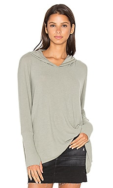 Michael Lauren Dash Pullover with Hood in Olive