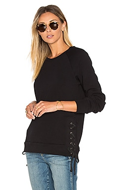 Bond Lace Up Sweatshirt in Black