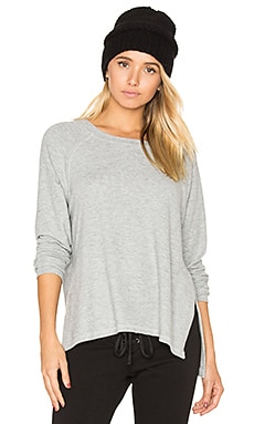 Desi Slit Pullover in Heather Grey
