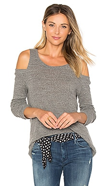 Turner Cold Shoulder Pullover in Heather Grey