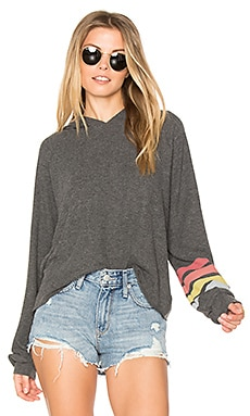Delaney Cropped Hoodie in Black