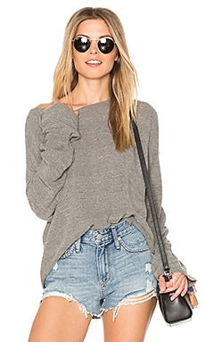 Brecken Bell Sleeve Sweater in Heather Gray
