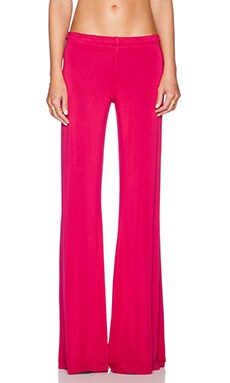 Michael Lauren Derby Wide Leg Pant in Jazzberry