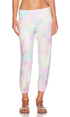 Michael Lauren Nate Crop Sweatpant in Candyland