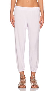 Michael Lauren Nate Crop Sweatpant in Simple Pink