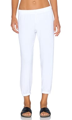 Michael Lauren Nate Crop Sweatpant in White