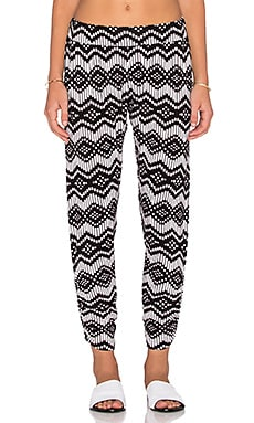 Michael Lauren Pablo Shirred Pant in Ikat