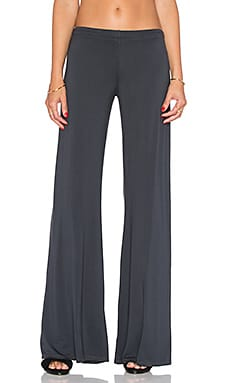 Michael Lauren Derby Wide Leg Pant in Navy Steel