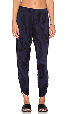 Michael Lauren Pablo Shirred Pant in Twilight