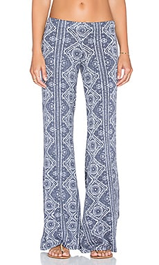 Michael Lauren Derby Wide Leg Pant in Navy Aztec