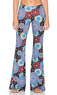 Michael Lauren Mars Bell Pant in Circle Paisley