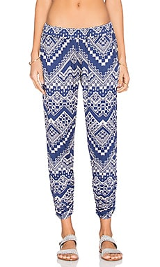 Michael Lauren Hardy Pant in Blue Zig