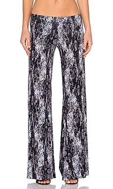 Michael Lauren Derby Wide Leg Pant in Blush Midnight Snake