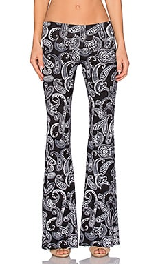 Michael Lauren Mars Pant in Black Paisley