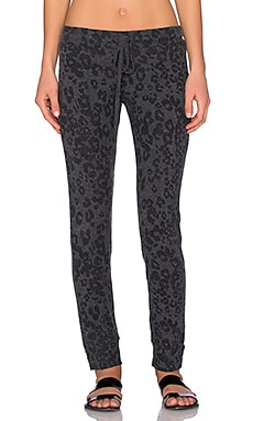 Michael Lauren Don Sweatpant in Black Leopard