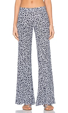 Derby Wide Leg Pant in Navy Floral