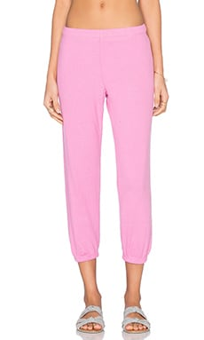 Michael Lauren Nate Crop Sweatpant in Pink Shortcake