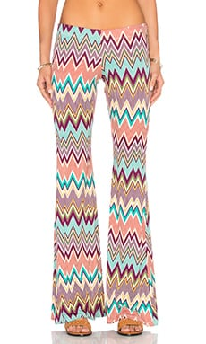 Michael Lauren Mars Bell Pant in Silk Zig