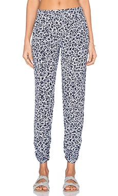 Michael Lauren Hardy Double Shirring Pant in Navy Floral