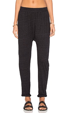 Adan Drop Crotch Roll Up Pant in Black