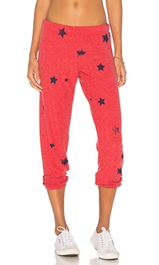 Nate Crop Sweatpant in Cayenne Stars