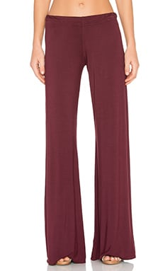 Michael Lauren Derby Wide Leg Pant in Sangria