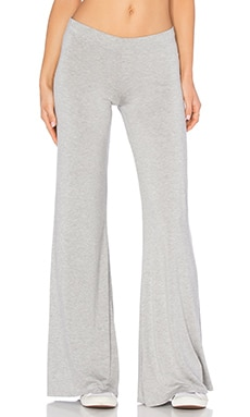 Derby Wide Leg Pant en Gris Chiné