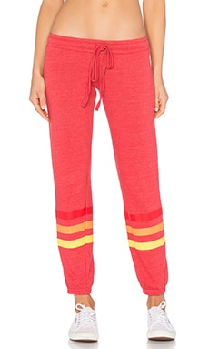 Michael Lauren Ren 3 Stripes Classic Sweatpant in Cayenne